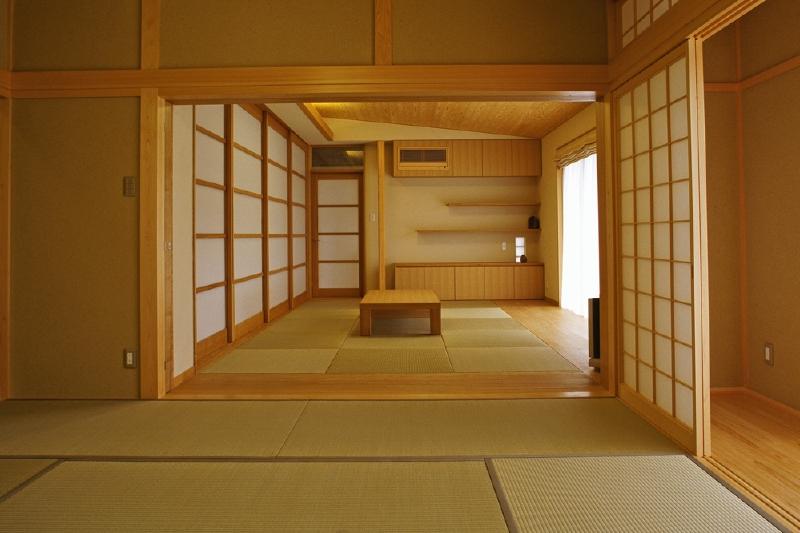 和室と居間 間仕切は収納可能