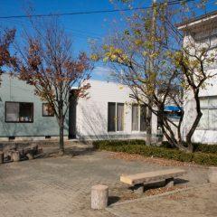 東面校舎側 庭側の眺望を確保した立面