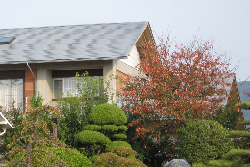東面外観 屋根はチタン亜鉛の自然な発色