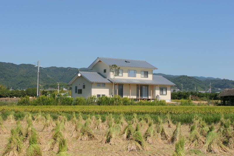 南面外観 田園の一軒屋